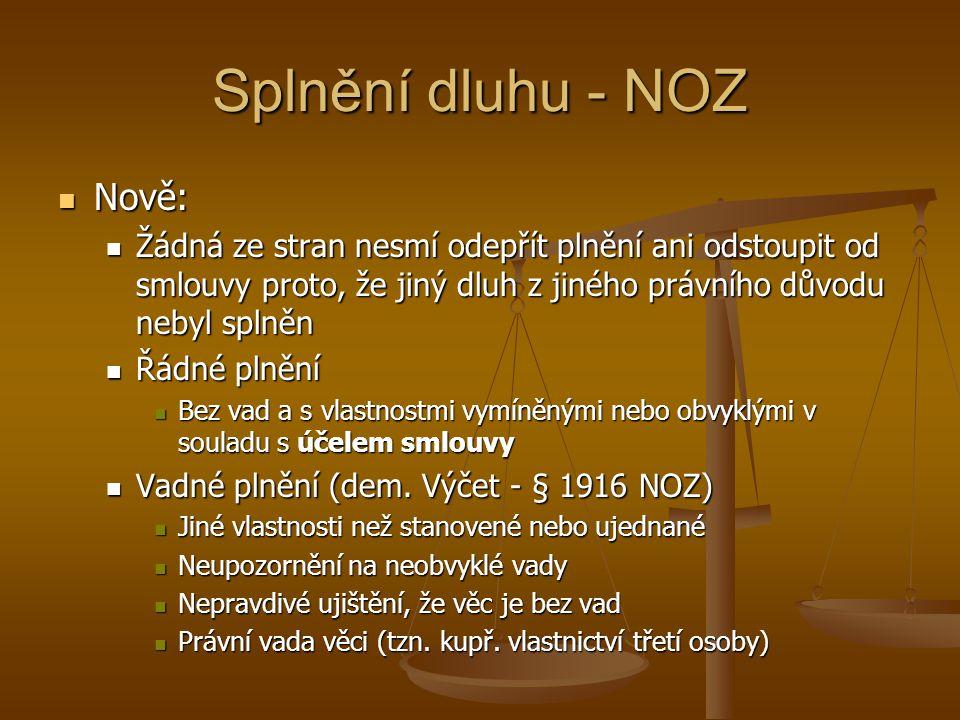Splnění dluhu - NOZ Nově: