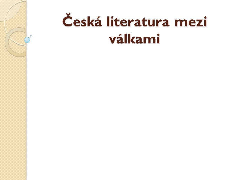 Česká literatura mezi válkami