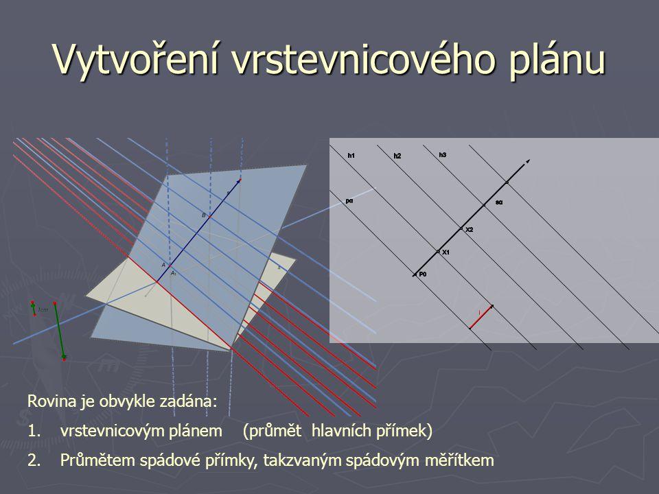 Vytvoření vrstevnicového plánu