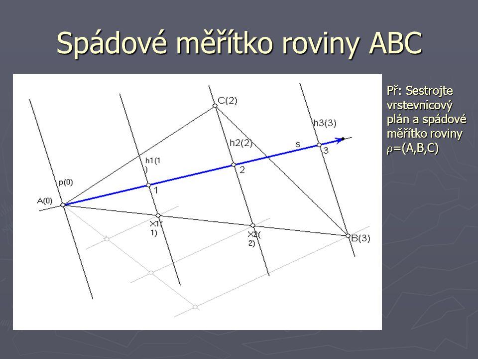 Spádové měřítko roviny ABC