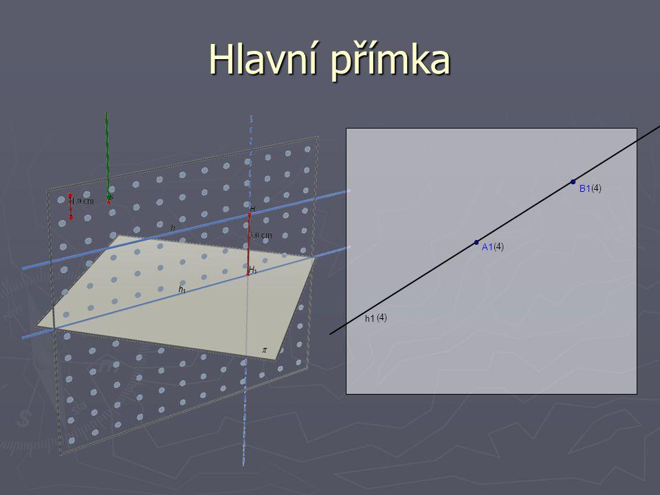 Hlavní přímka B1 (4) A1 (4) h1 (4)