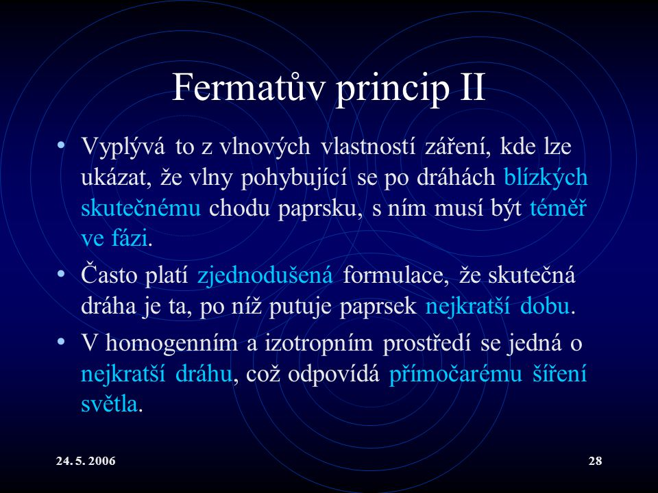 Fermatův princip II