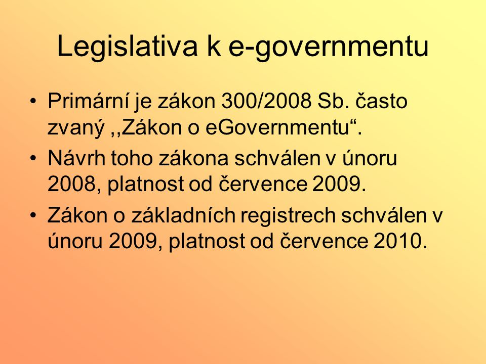 Legislativa k e-governmentu