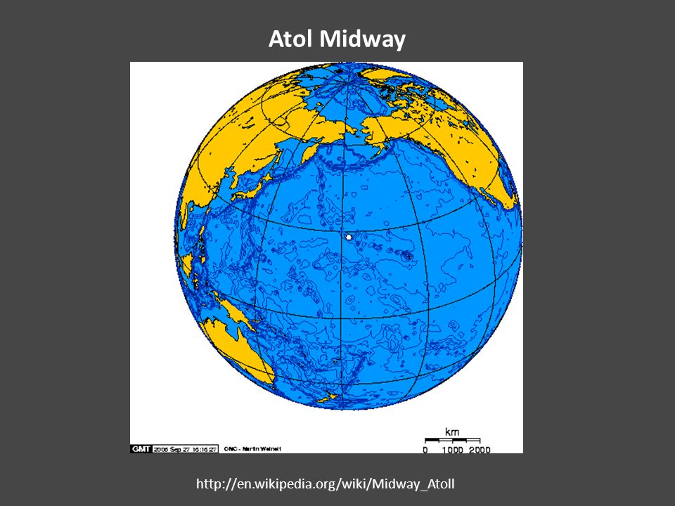 Atol Midway http://en.wikipedia.org/wiki/Midway_Atoll