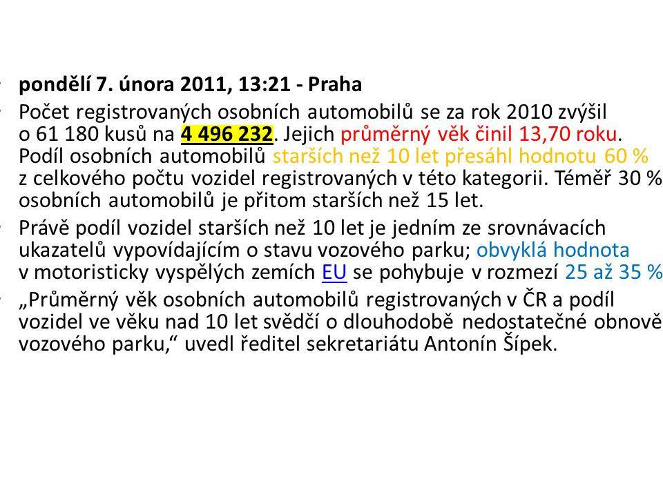 pondělí 7. února 2011, 13:21 - Praha