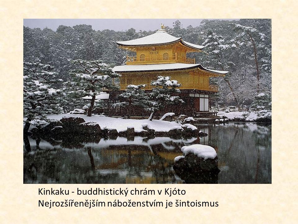 Kinkaku - buddhistický chrám v Kjóto