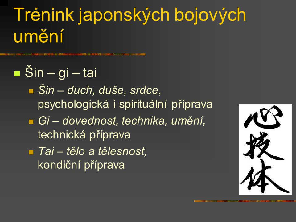 Trénink japonských bojových umění