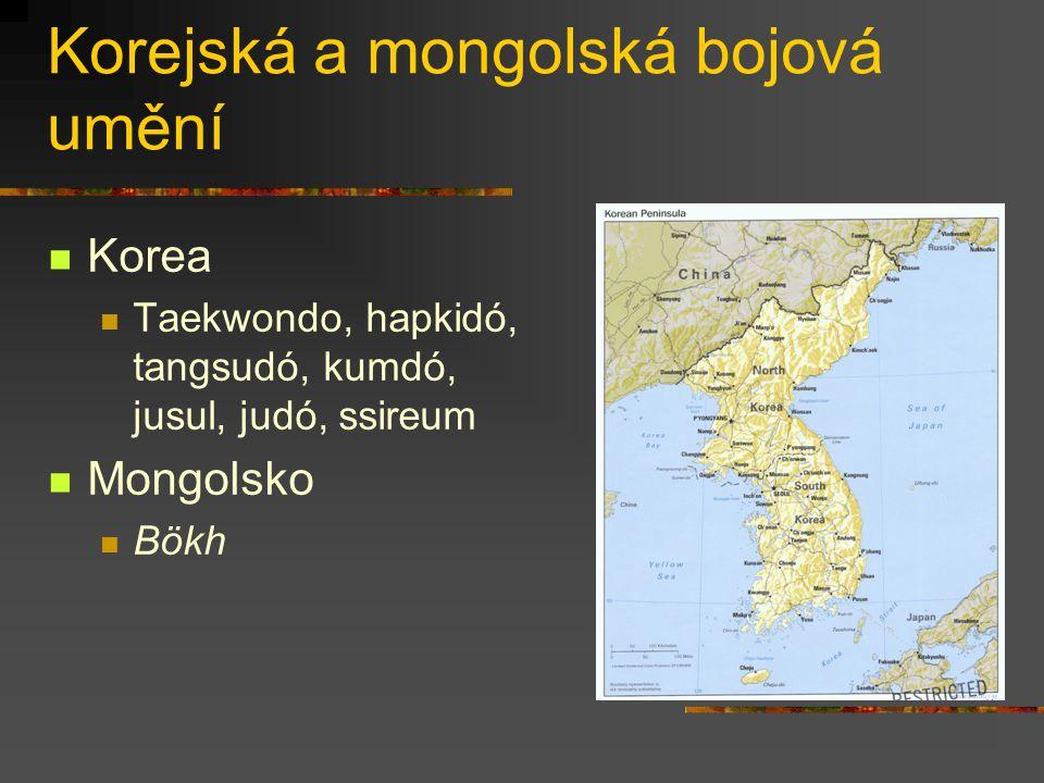 Korejská a mongolská bojová umění