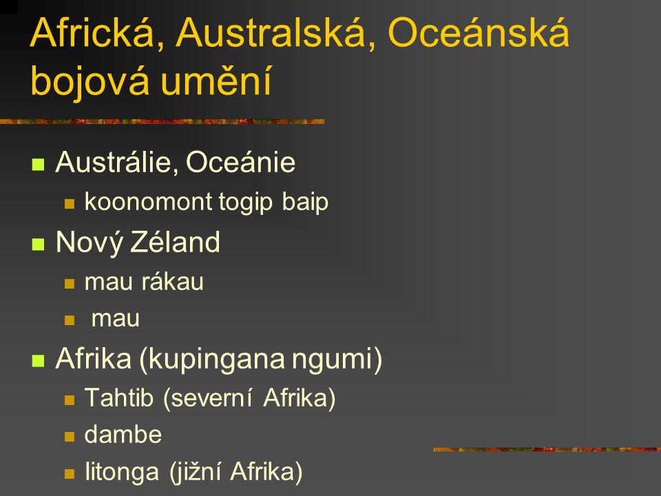 Africká, Australská, Oceánská bojová umění