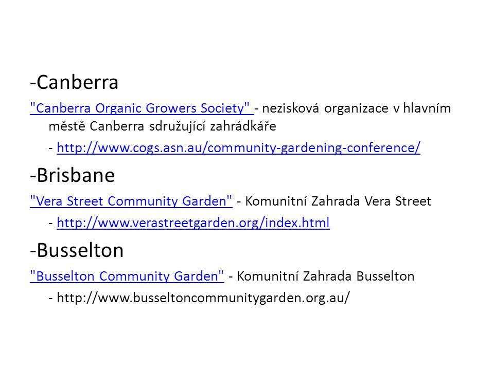 -Canberra -Brisbane -Busselton