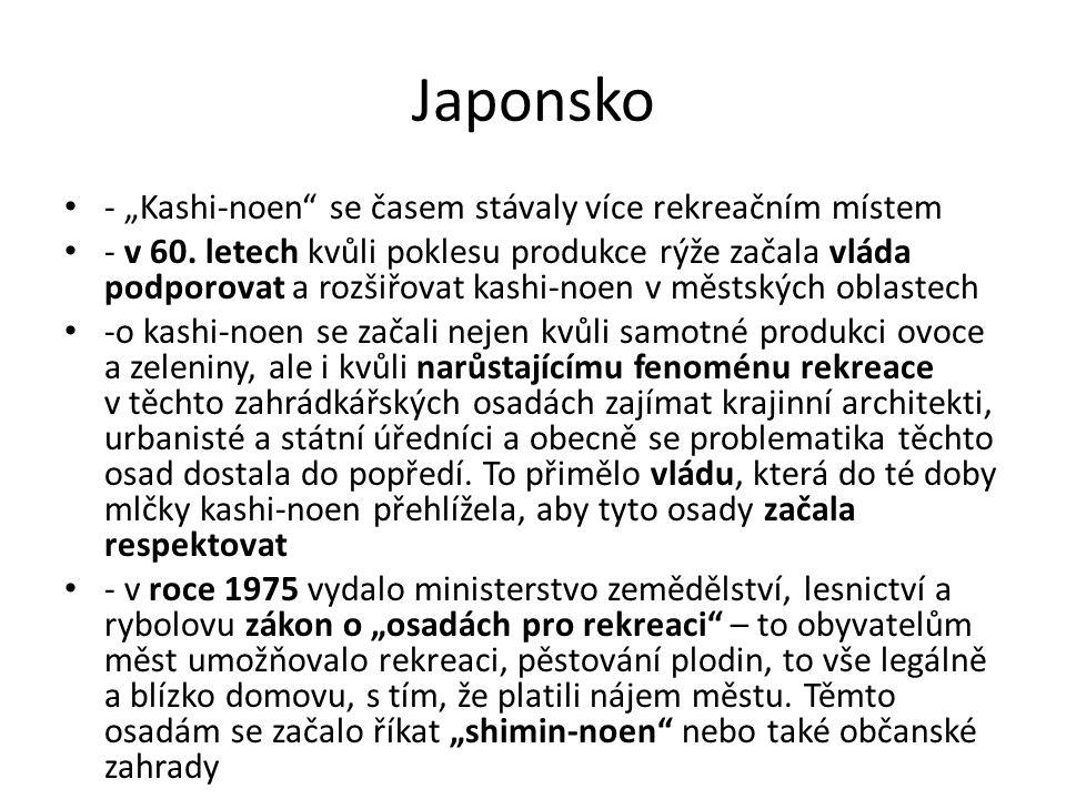 """Japonsko - """"Kashi-noen se časem stávaly více rekreačním místem"""