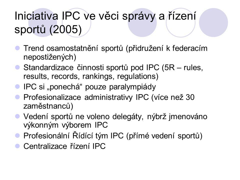 Iniciativa IPC ve věci správy a řízení sportů (2005)