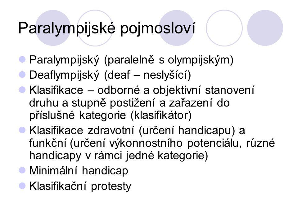 Paralympijské pojmosloví