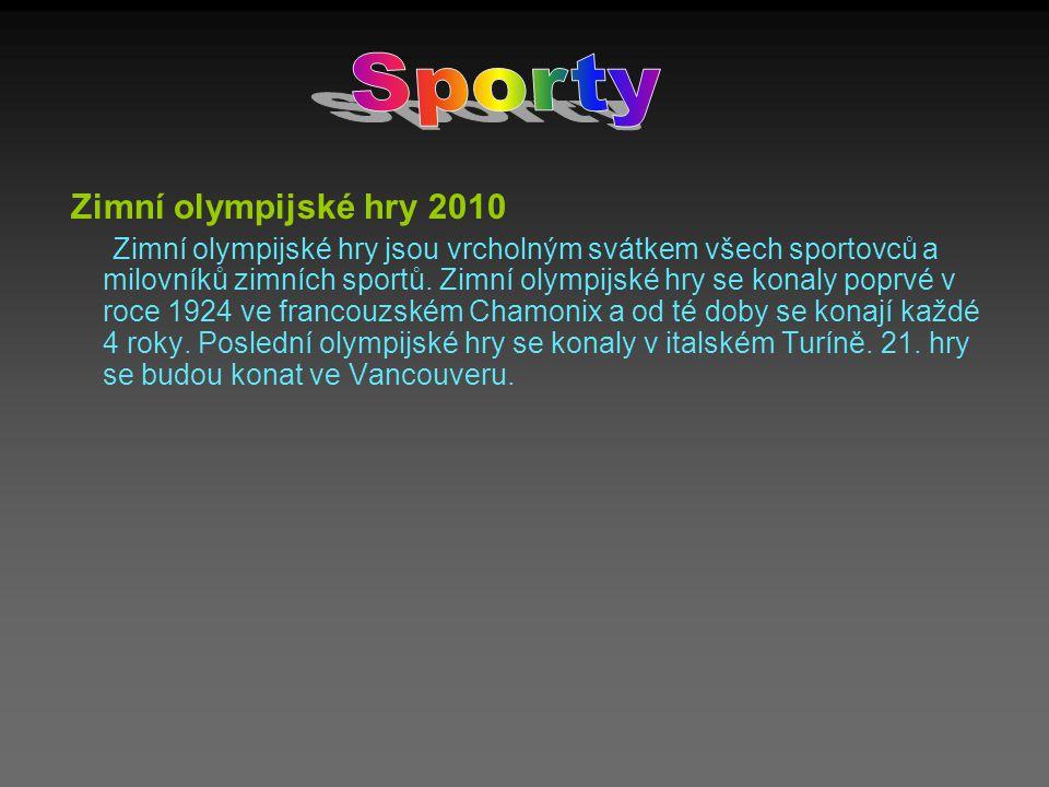 Sporty Zimní olympijské hry 2010