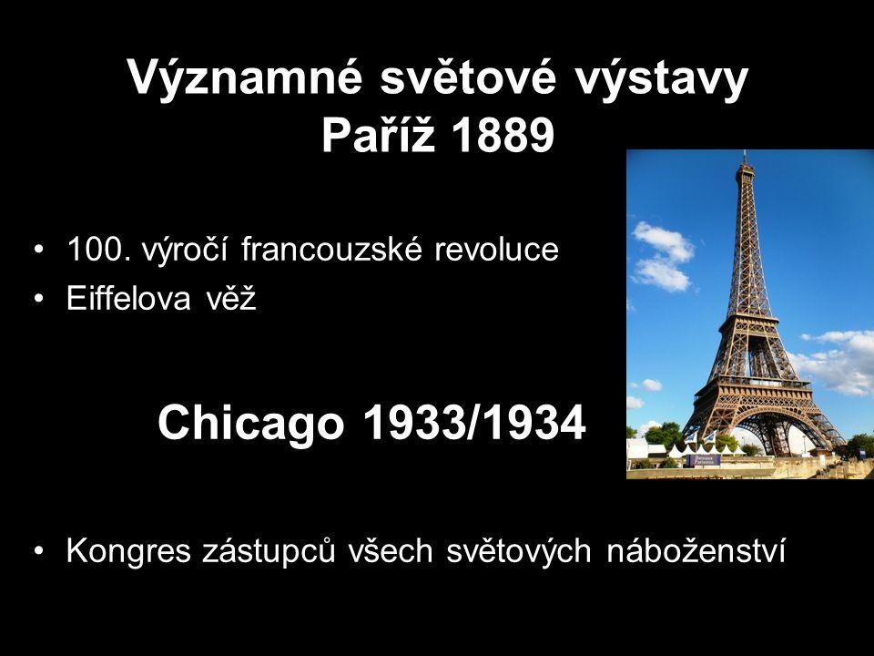 Významné světové výstavy Paříž 1889