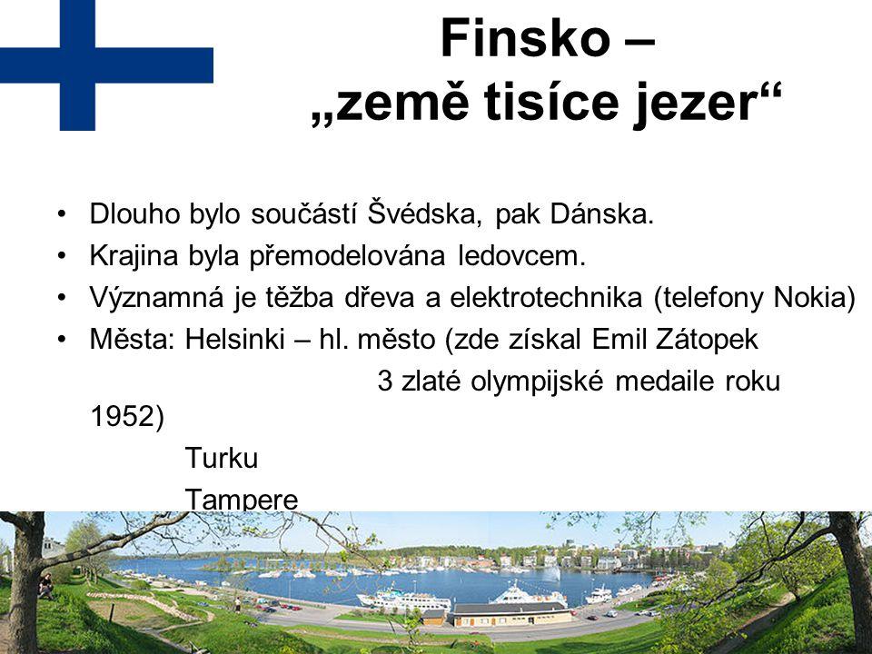 """Finsko – """"země tisíce jezer"""