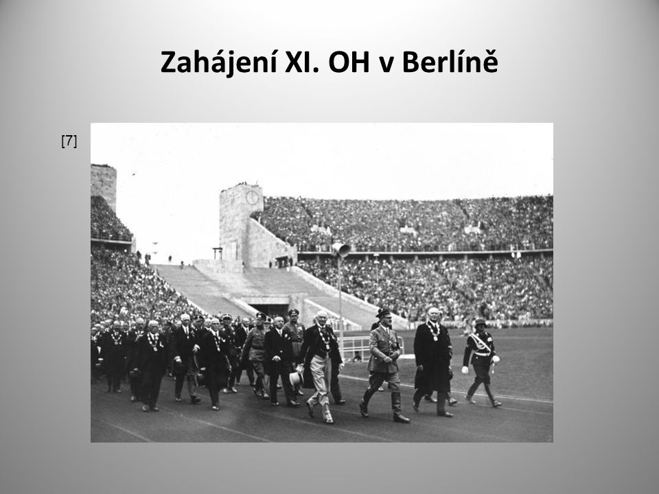 Zahájení XI. OH v Berlíně