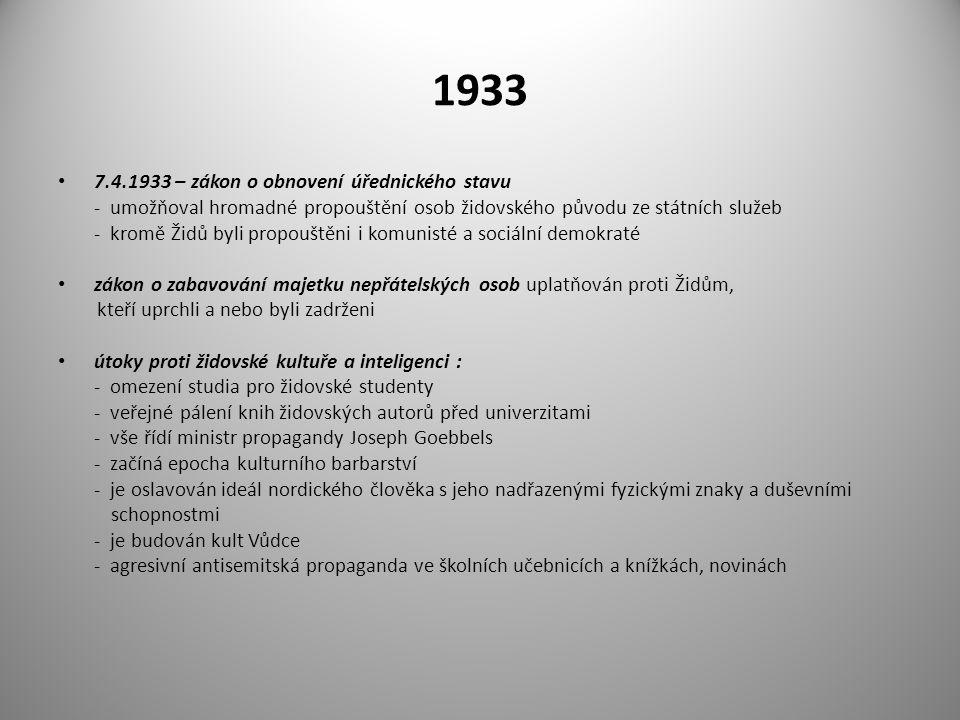 1933 7.4.1933 – zákon o obnovení úřednického stavu