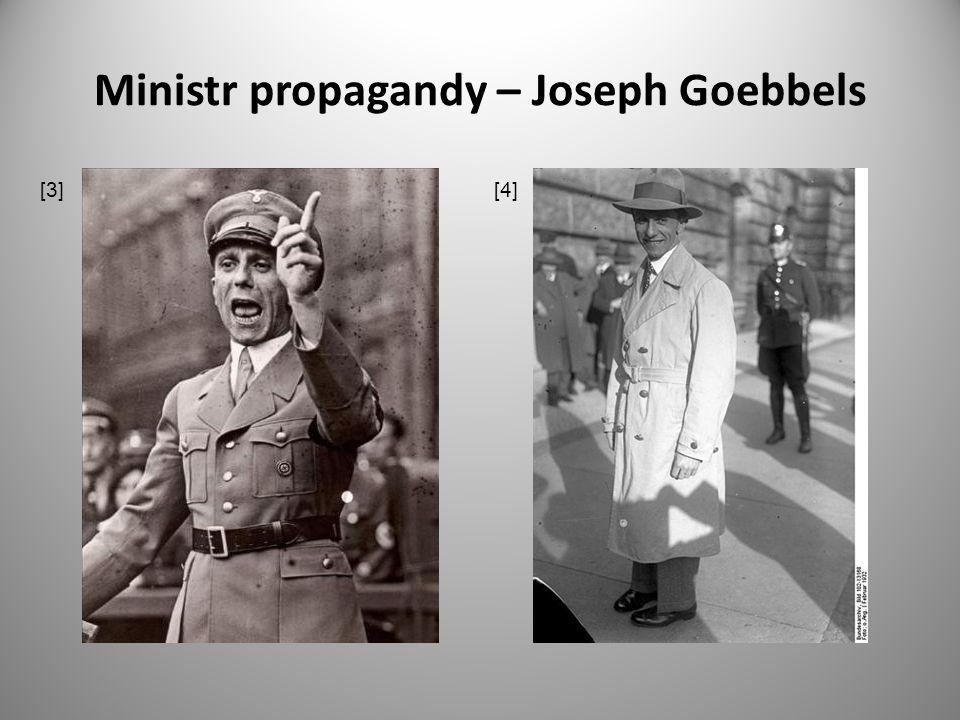 Ministr propagandy – Joseph Goebbels