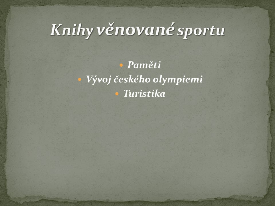 Vývoj českého olympiemi