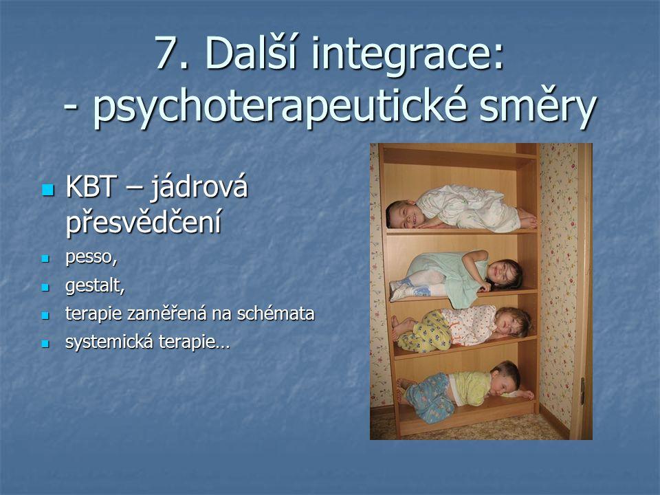 7. Další integrace: - psychoterapeutické směry