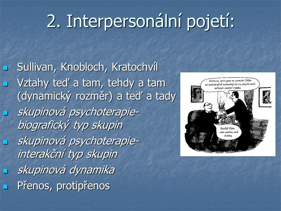 2. Interpersonální pojetí: