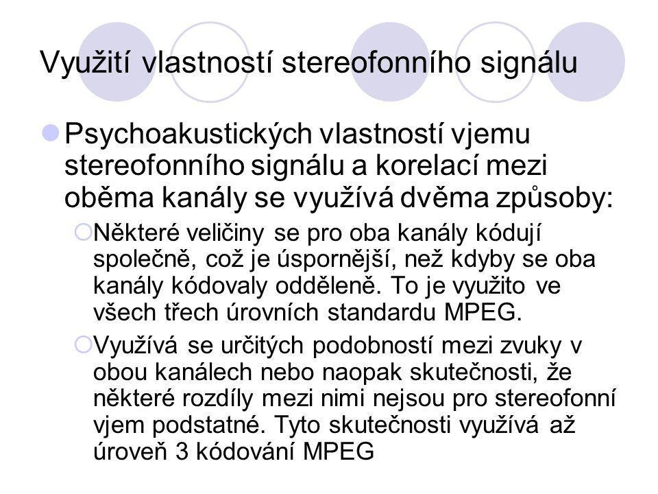 Využití vlastností stereofonního signálu
