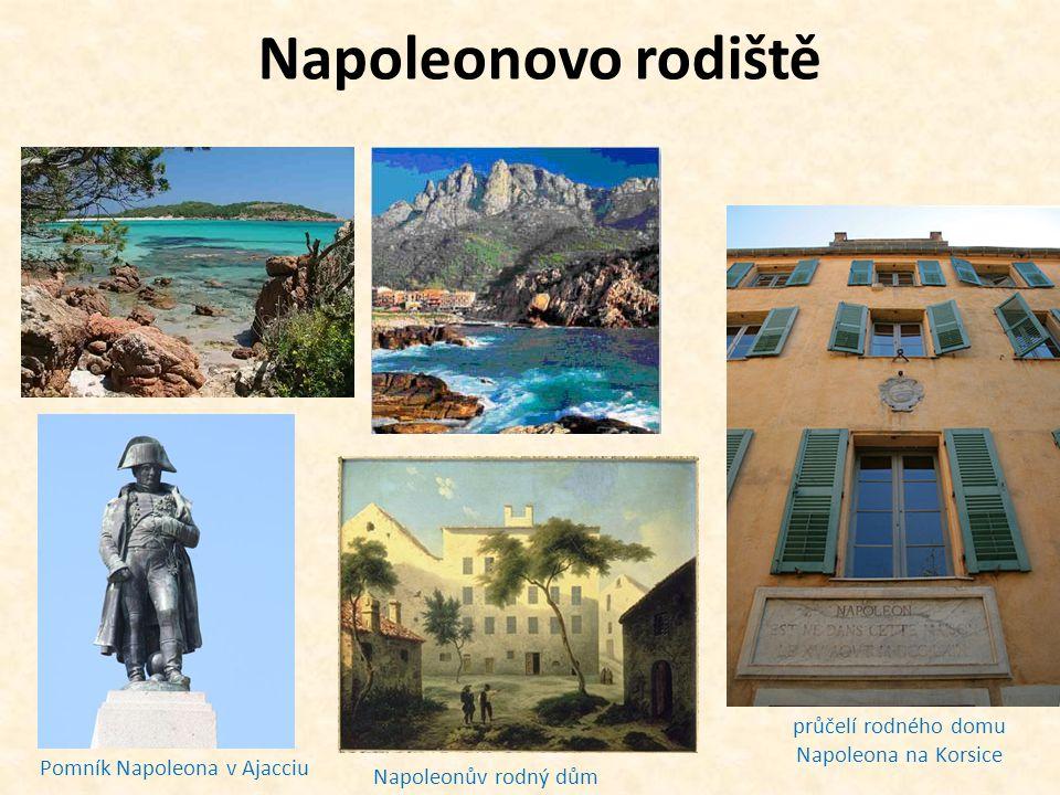 průčelí rodného domu Napoleona na Korsice