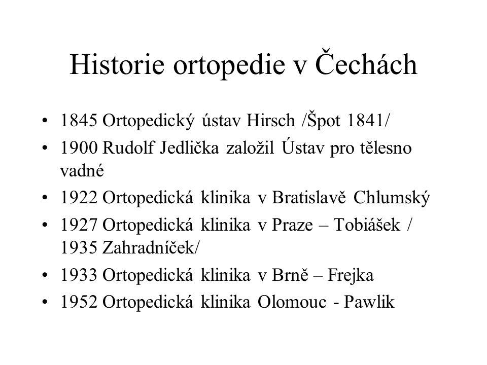 Historie ortopedie v Čechách