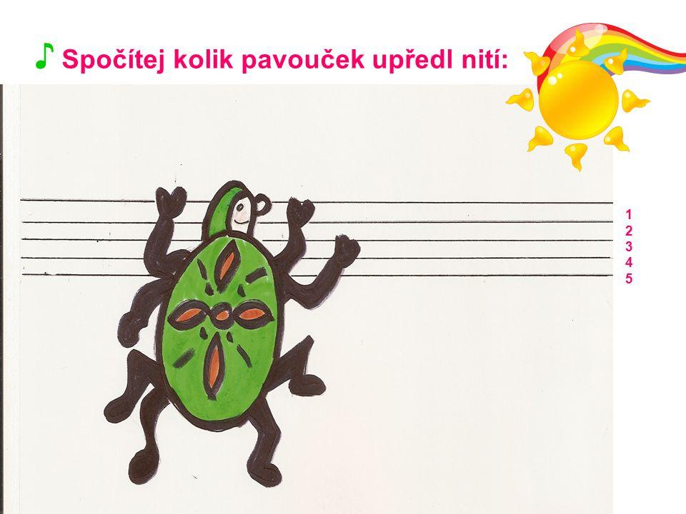 ♪ Spočítej kolik pavouček upředl nití: