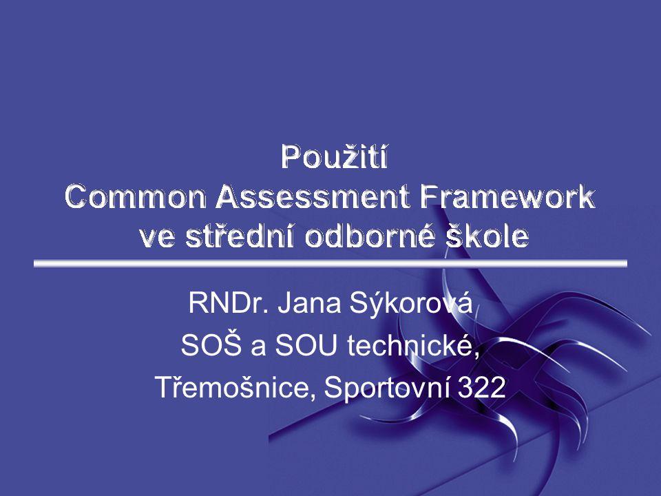 RNDr. Jana Sýkorová SOŠ a SOU technické, Třemošnice, Sportovní 322