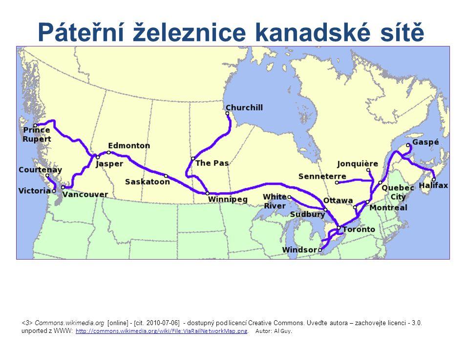 Páteřní železnice kanadské sítě