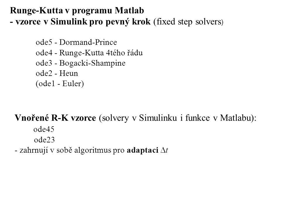 Runge-Kutta v programu Matlab