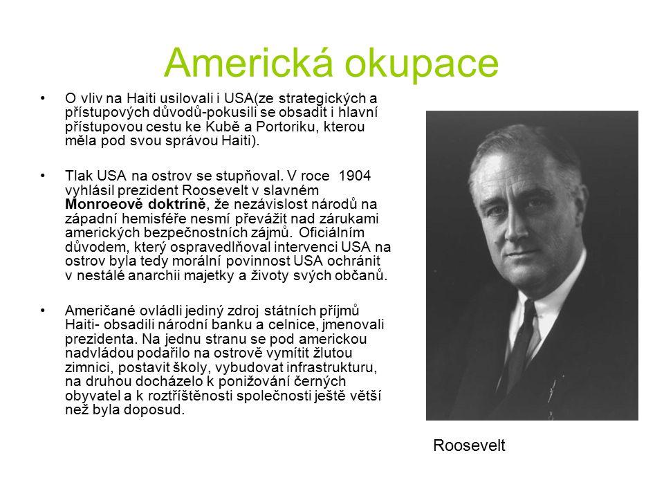 Americká okupace Roosevelt