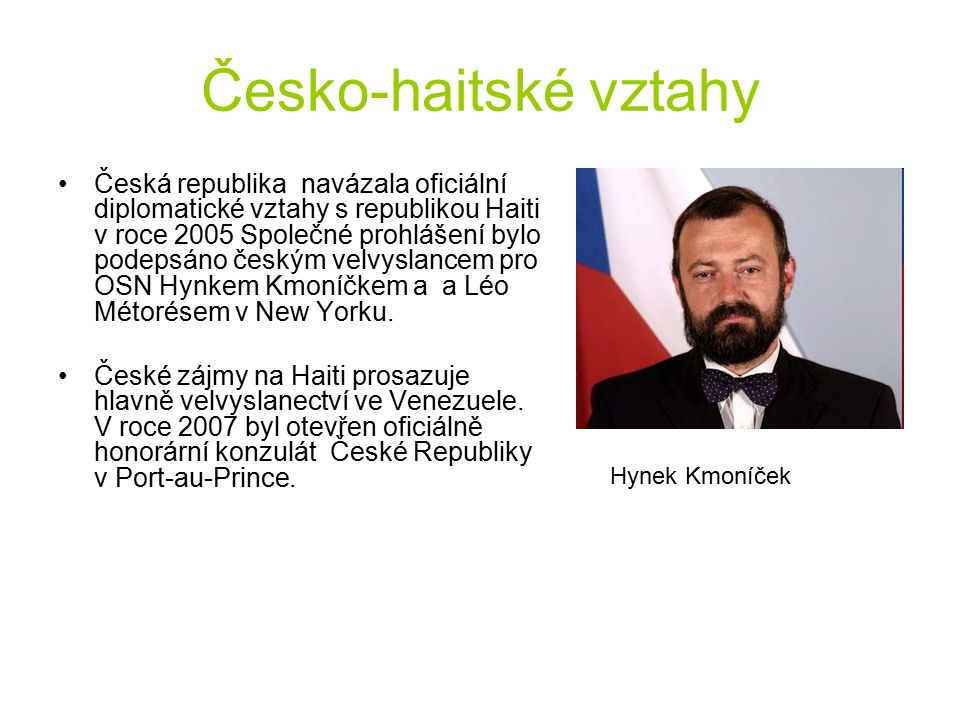 Česko-haitské vztahy