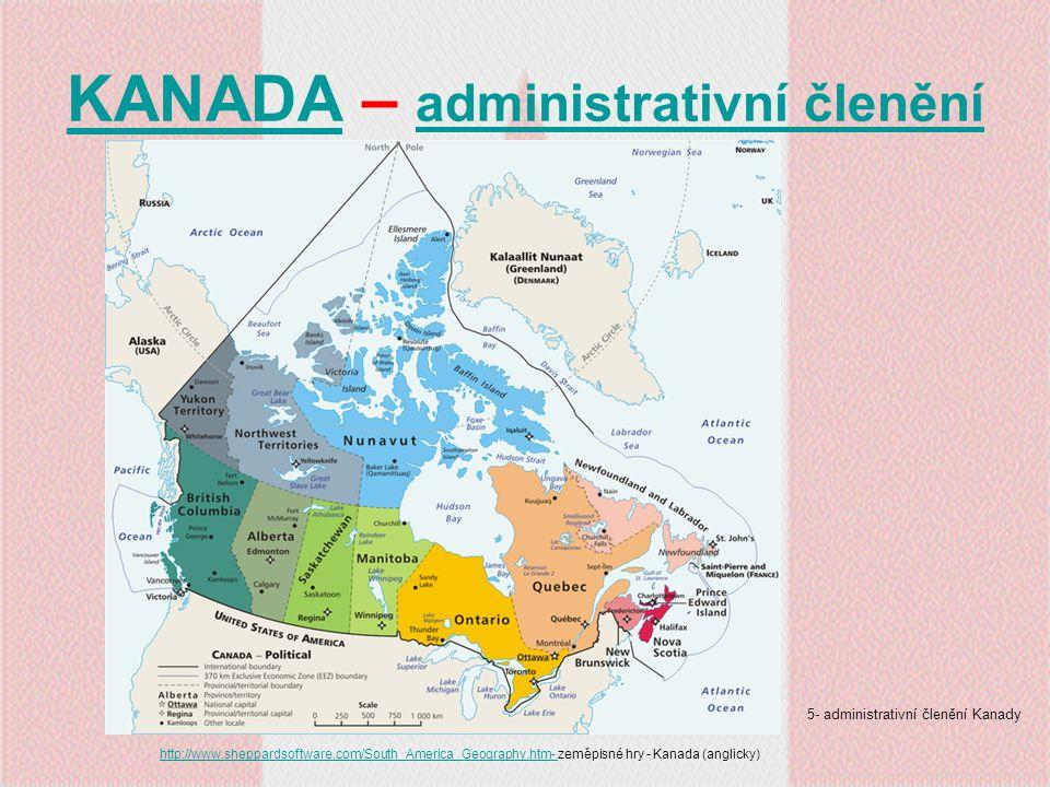 KANADA – administrativní členění