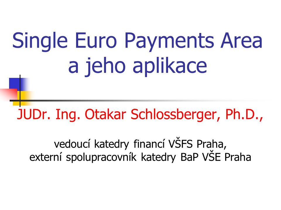 Single Euro Payments Area a jeho aplikace
