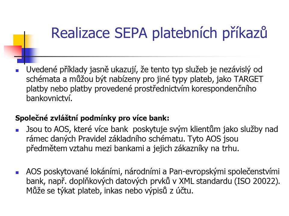 Realizace SEPA platebních příkazů