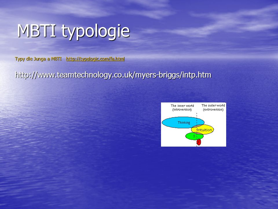 MBTI typologie http://www.teamtechnology.co.uk/myers-briggs/intp.htm