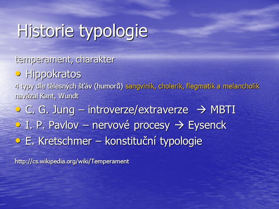 Historie typologie Hippokratos