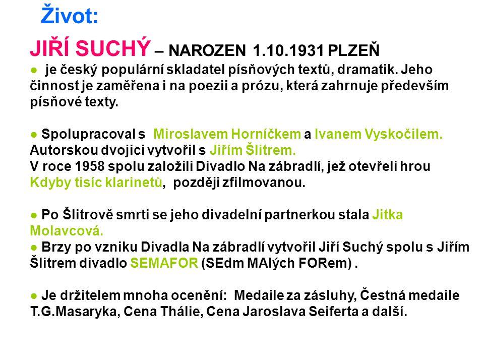 JIŘÍ SUCHÝ – NAROZEN 1.10.1931 PLZEŇ