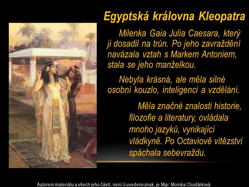 Egyptská královna Kleopatra