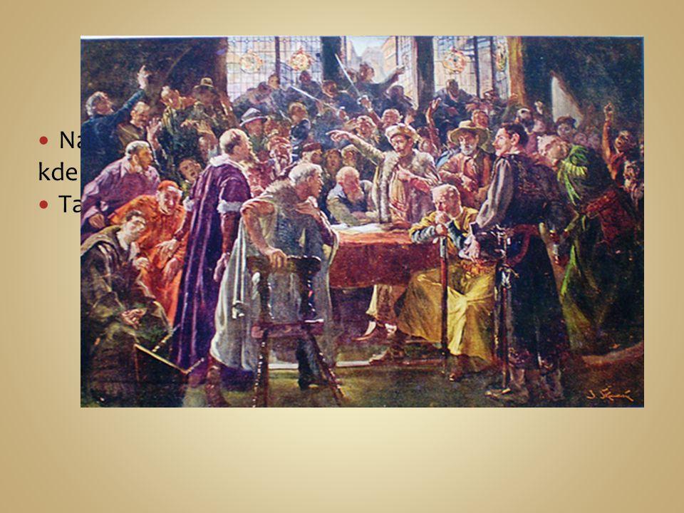 Čáslavský sněm Na jaře roku 1421 svolali pražané Čáslavský sněm, kde se zvolily dočasnou zemskou vládu.
