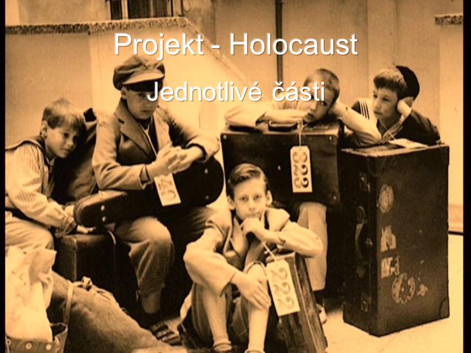 Projekt - Holocaust Jednotlivé části