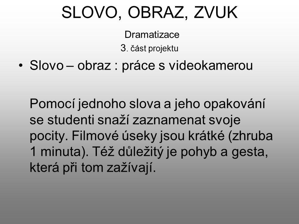 SLOVO, OBRAZ, ZVUK Dramatizace 3. část projektu