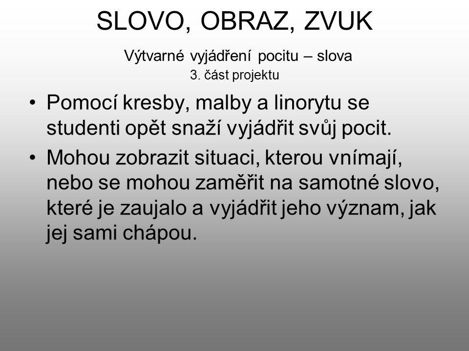 SLOVO, OBRAZ, ZVUK Výtvarné vyjádření pocitu – slova 3. část projektu