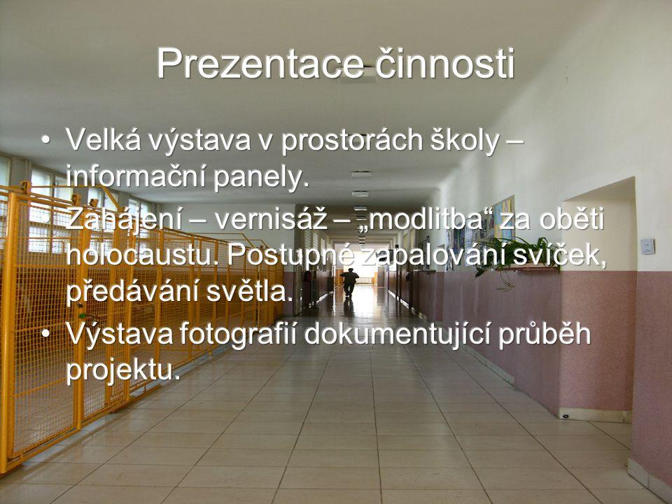 Prezentace činnosti Velká výstava v prostorách školy – informační panely.