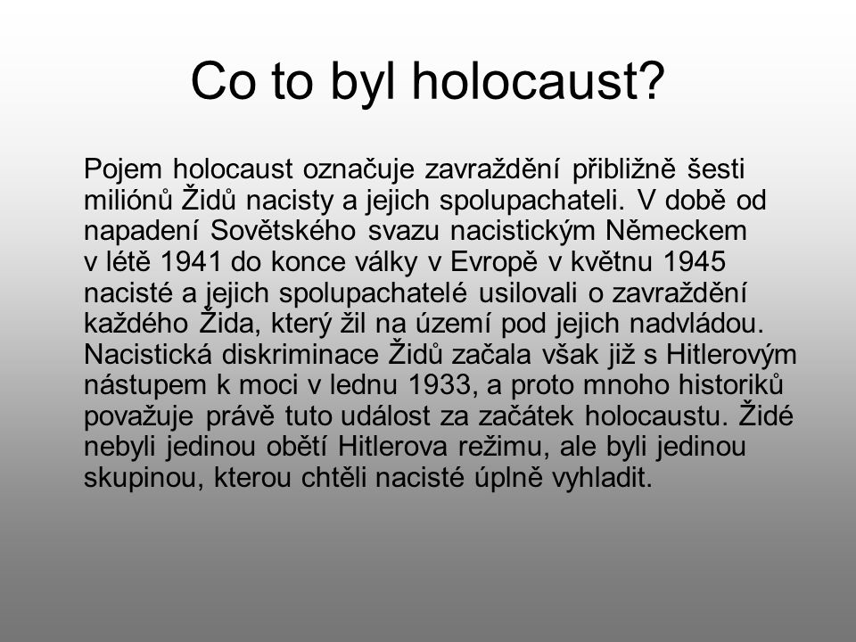 Co to byl holocaust