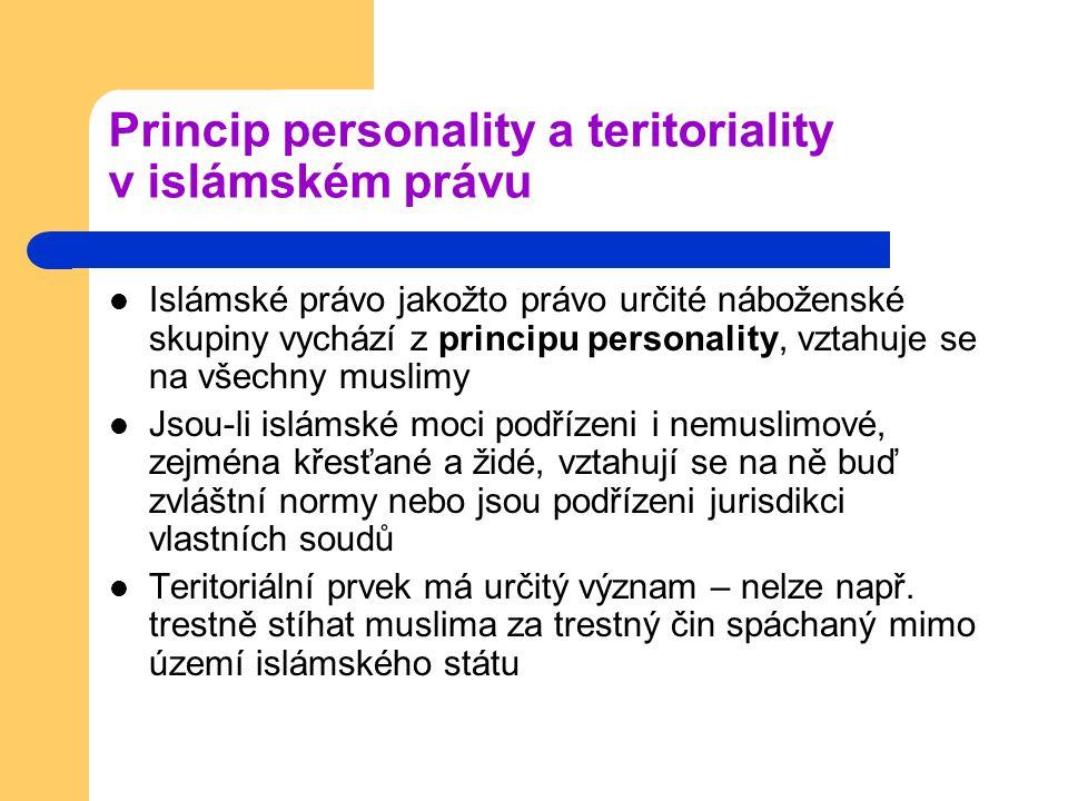 Princip personality a teritoriality v islámském právu