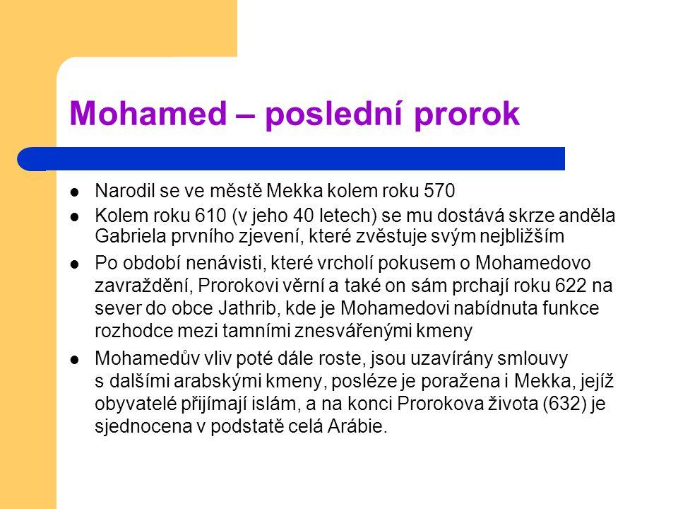 Mohamed – poslední prorok